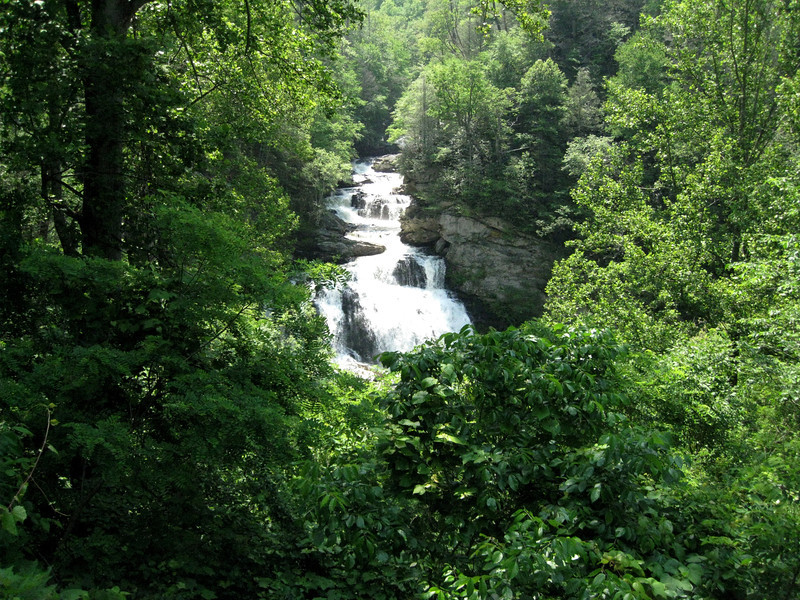 Waterfall in North Carolina on Route 28