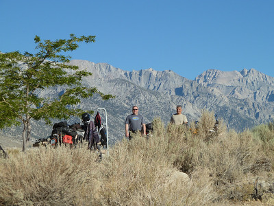 Our first Morning near Lone Pine Ca. My buddys Matt ( left ) and Bob (right )