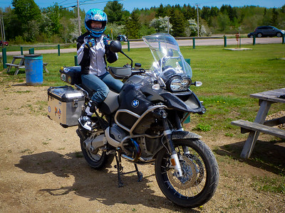Julia's first big ride