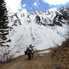 Taking the GS into part of it's natural environment.  Best to check if there is a turnaround first.