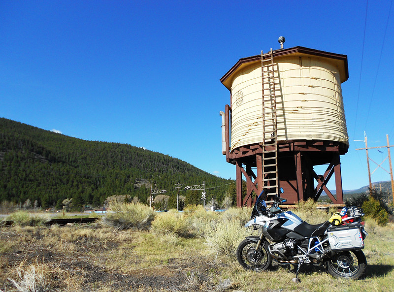 Steam train watering station in South Fork, CO