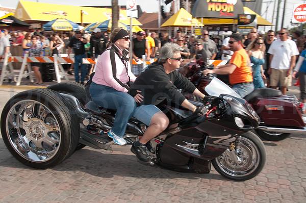 2013 Daytona 72nd Bike Week Riding Main Street on Mar. 9, 2013