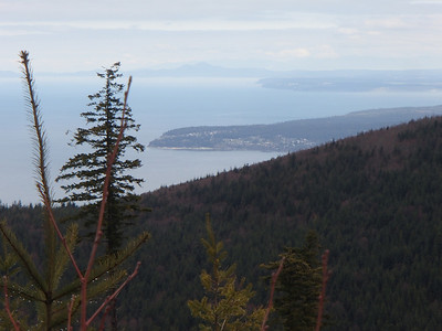 Feb 2014 Cape George, Partridge Point on Whidbey Is and Mt Constitution on Orcas Is from Maynard Hill above Blyn, WA