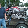 Cliff and his new to him 2014 R1200GS-W. He bought it in June 2017 after totaling his GSA in a deer/motorcycle encounter. This is the day he picked it up at Frontline Euro. 3 months later it was for sale again.