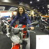 Christina on the Ducati 696 Monster. I think she likes it. (GoPro Hero 3/GoPro App/GoPole)
