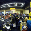 Matt from Touratech USA working the show. (GoPro Hero 3/GoPro App/GoPole)