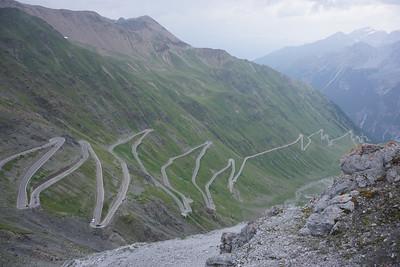 The final ascent on Stelvio