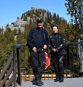 Rick and Barbara Bailey on top of Sulphur Mountain - Banff Alberta