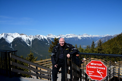 Me on top of Sulphur Mountain - Banff Alberta
