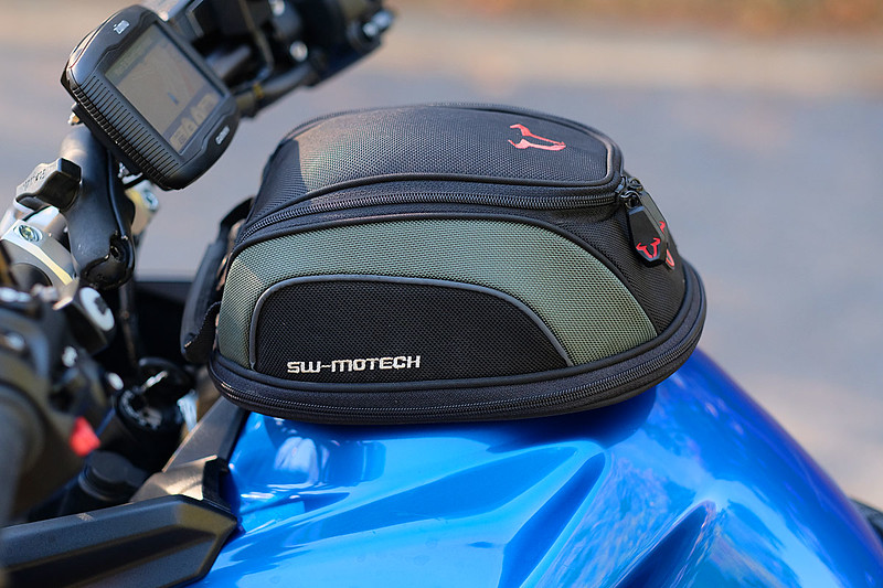 Detail of SW Motech tank bag