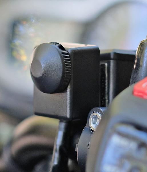 Handlebar dimmer switch for LED driving lights