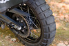 Rear wheel with Shinko 805 dual sport tire (approximately 2k miles - 2/3rds tread remaining)