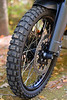 Front wheel shod with Shinko 804 dual sport tire