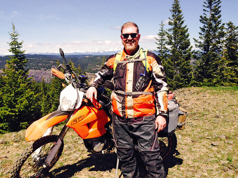 Lacey and KTM 500EXC in the Manastash
