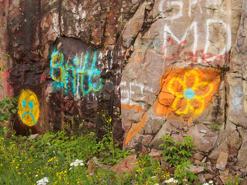 Graffiti along the Echo Trail north of Ely, MN