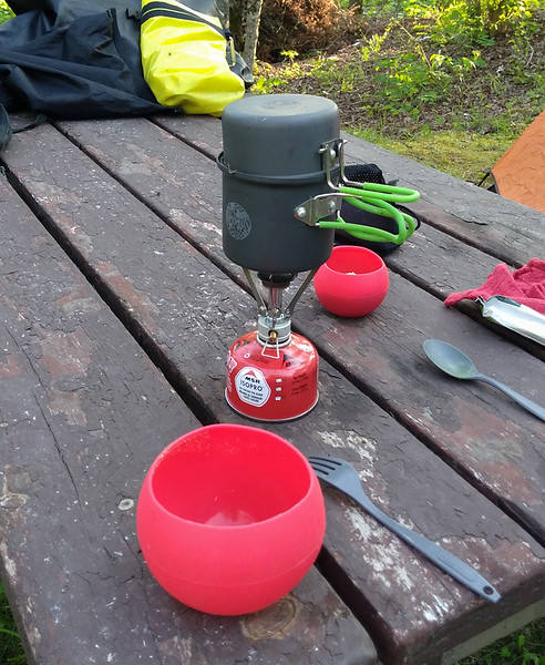 MSR Pocket Rocket stove and Optimus cook set