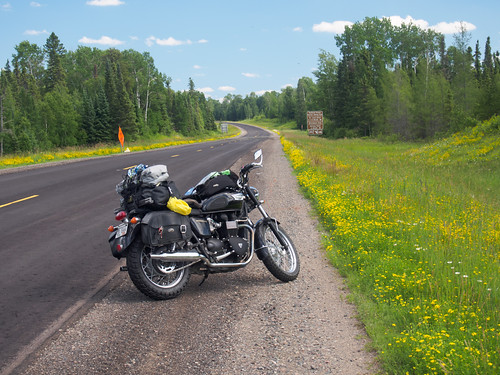 Triumph Bonneville in Superior National Forest