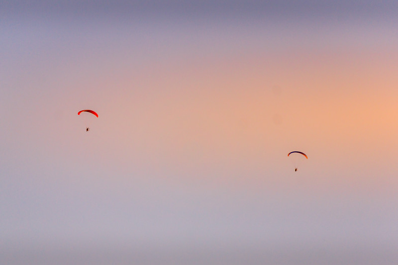 These two flew over at sunset.  It was a beautiful evening - must have been awesome up there.