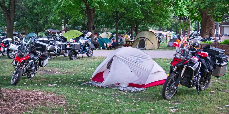 made it to the Iowa State Fairgrounds on Weds.  As the rally only really started on Thurs, there were still some choice camping spots.