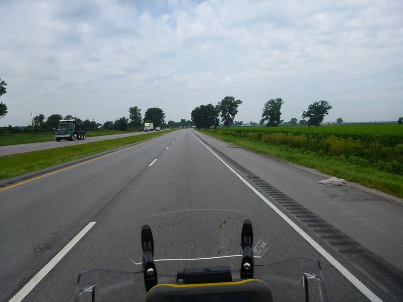 Nice to be away from the Interstate traffic for a while, I think this was route 6, in IN.