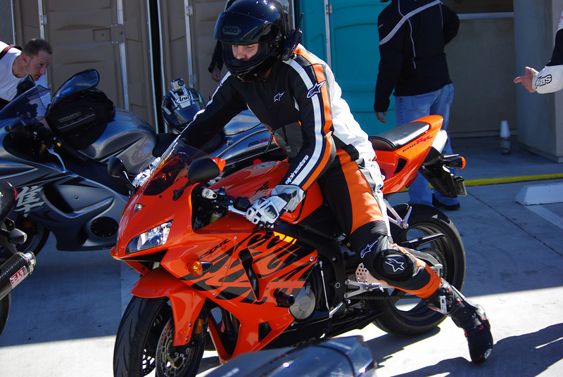 Don and his CBR without the snow tires.