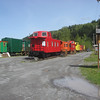 Train cars in Elbe, Wa.  You can motel it there as well as enjoy a meal.