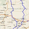 Overall route:  route 275 miles through the PA wilds.