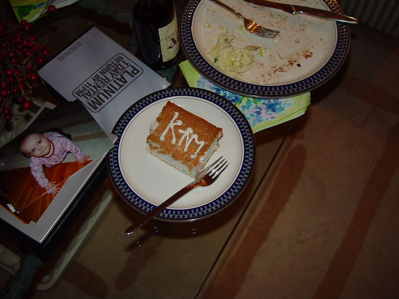 """There was """"KTM"""" cake."""