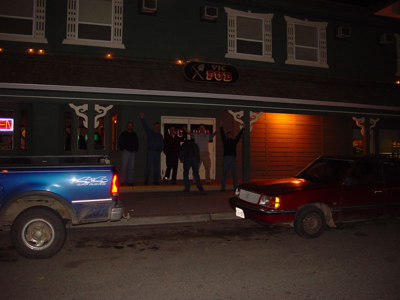 Closing down the tavern in Lillooet.