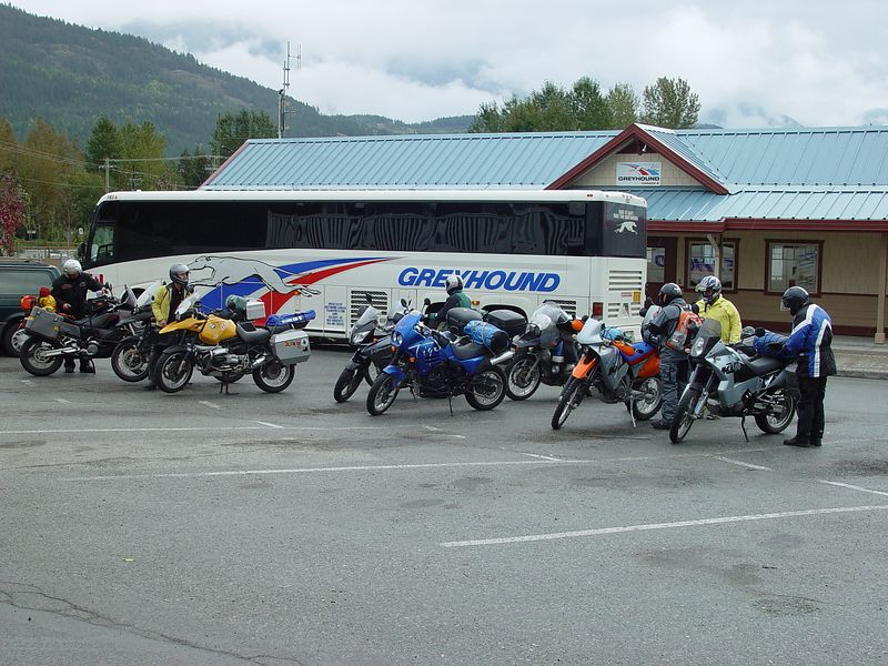 Getting ready to leave Pemberton, after eating a good lunch.
