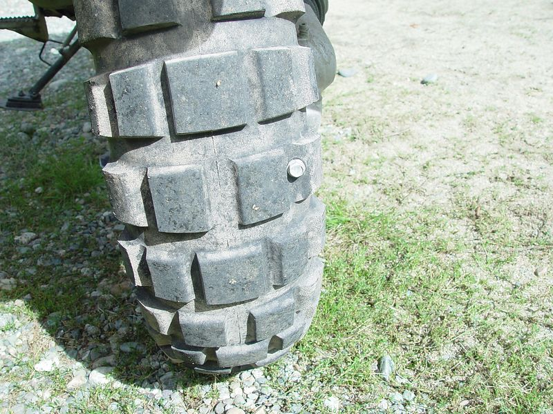 """I get """"screwed"""" again, every-time I have ridden in Canada, I have gotten a flat tire by picking up a screw."""