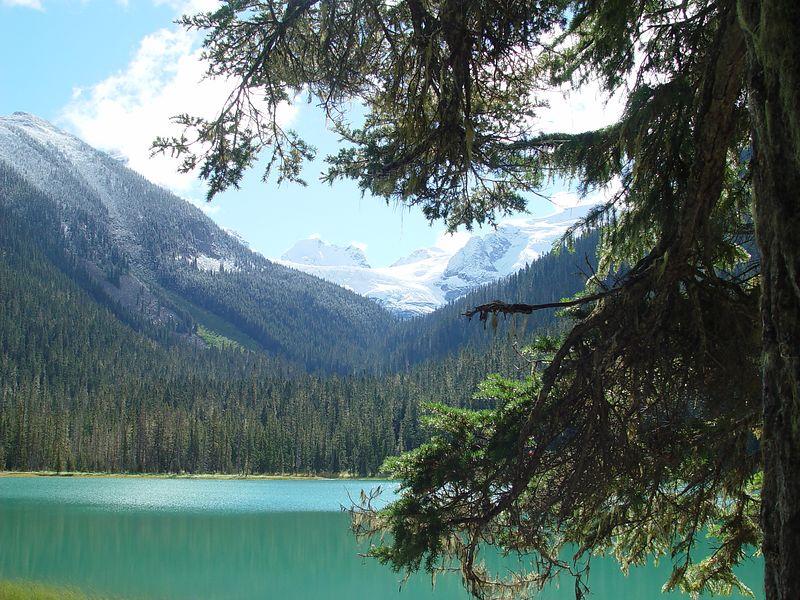 Glacier fed lake.