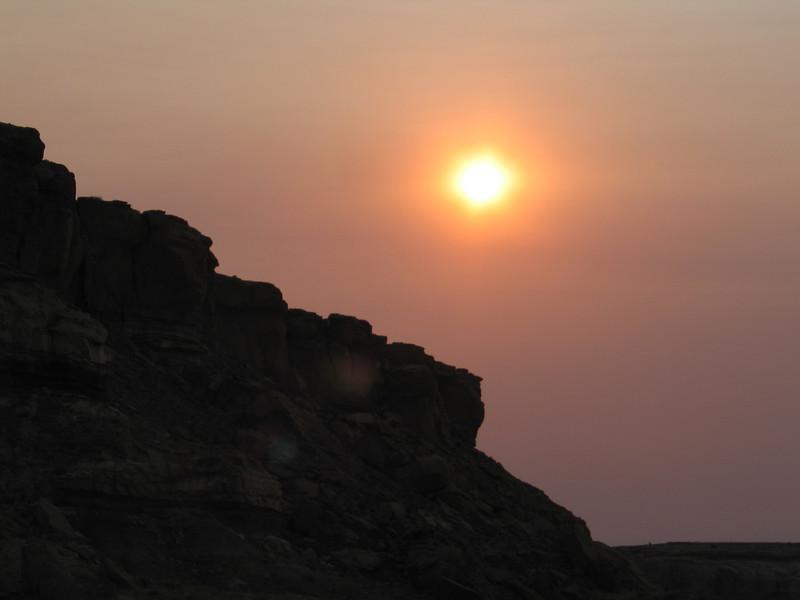 sunset at Chaco