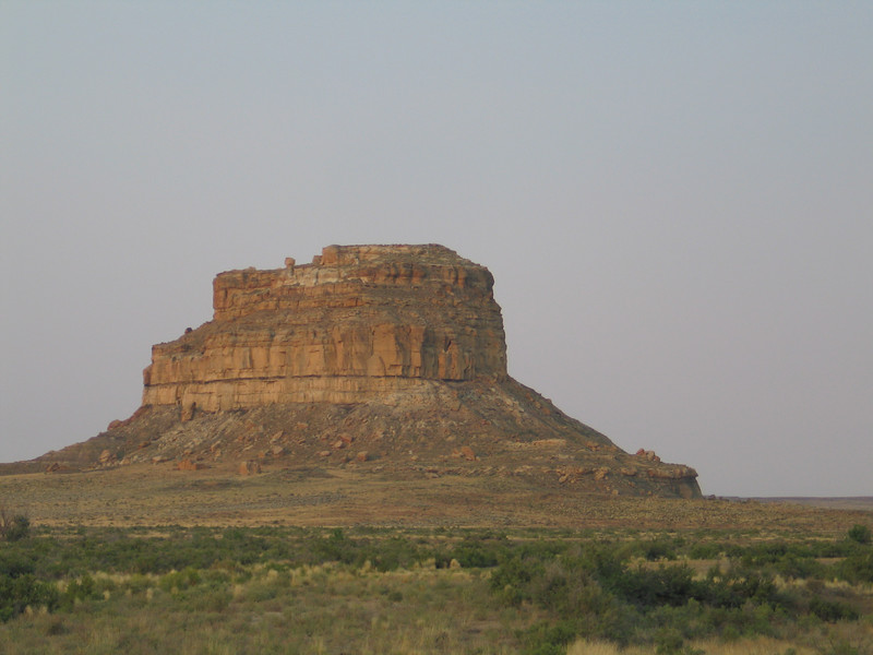 Looking south from the visitor's center at Chaco.  There are some observatory structures on top of this outcropping that natives had to reach by climbing.