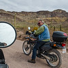When I arrived at Organ Pipe campground I spotted a DR650 on the back of a Class A motorhome.  I was lucky as he was a good rider and a nice guy.  Armand ,  it was great riding with you. Barb Willacker and I are looking forward to meeting up  with you and  Irene Mercier next winter.