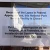 Federal Park Closedown