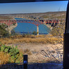 Completed in April 1957, the Pecos River Bridge spans the canyon at the junction of U.S. Highway 90 and the Pecos River. The height above the river varies with the level of the Amistad Reservoir but the bridge is approximately 273 feet above the water level. It is the highest highway bridge in Texas,