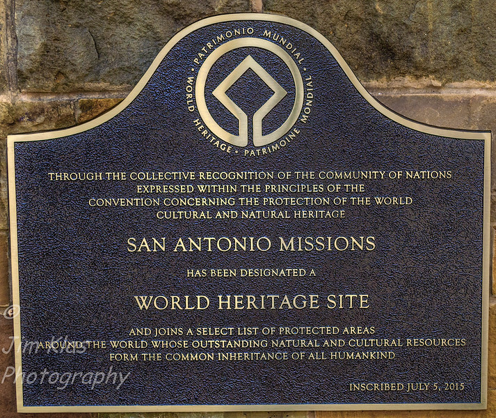 In 2015, the four San Antonio Missions, along with San Antonio de Valero, known as the Alamo, were designated as a UNESCO World Heritage site.  (The Alamo is owned by the State of Texas and operated by the Daughters of the Republic of Texas. It does not function as an active parish church and is not part of the Old Spanish Missions, Inc.)