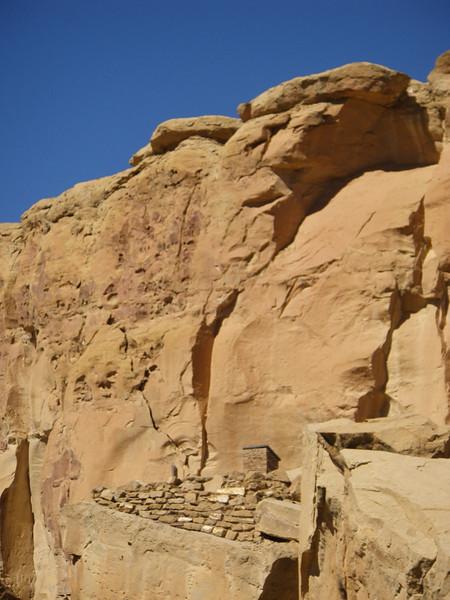 Cliff ruins at Chaco Canyon