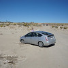 Car stuck on road to Chaco Canyon
