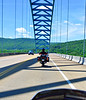 Thursday en route, DeBandi on Hwy 156 Bridge at South Pittsburgh, TN
