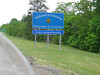 Entering Louisiana on Interstate 10 heading to New Orleans
