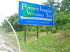 Pennsylvania - The Keystone State - on I-78 West near Easton