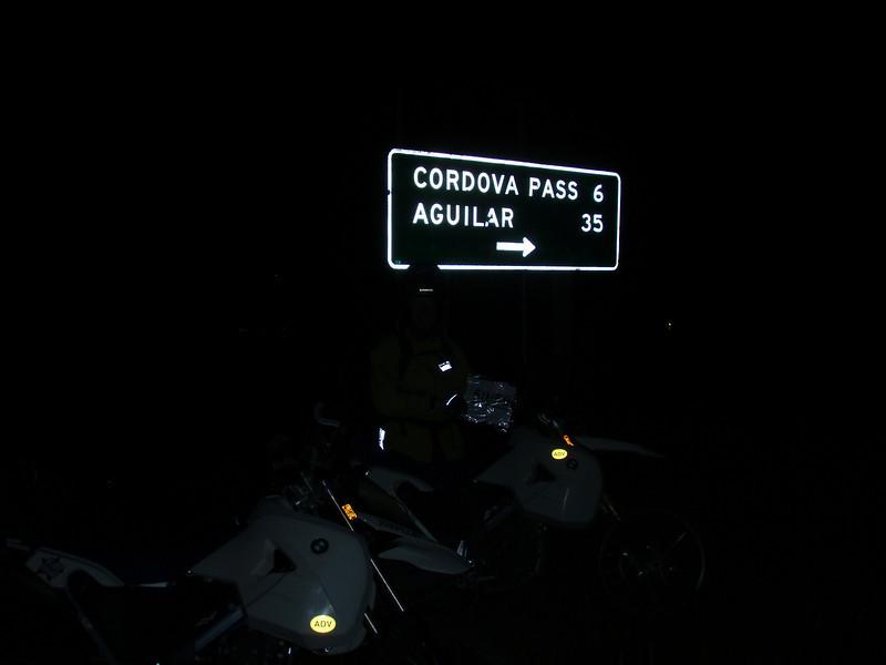 Cucharas Pass -- really!
