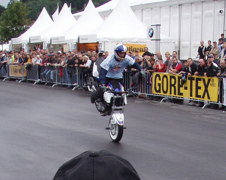 Wereldkampioen stuntrijden Chris Pfeiffer.