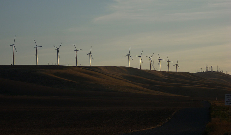 the wind generators over Kennewick WA