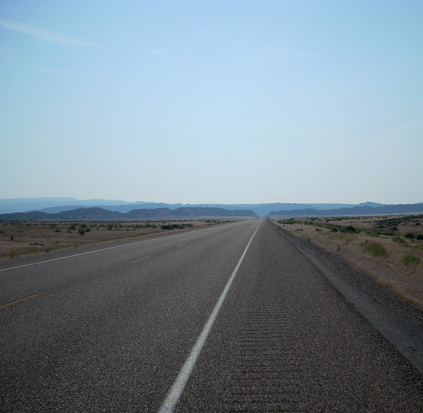 the long road a few miles from the CO border near Vernal UT