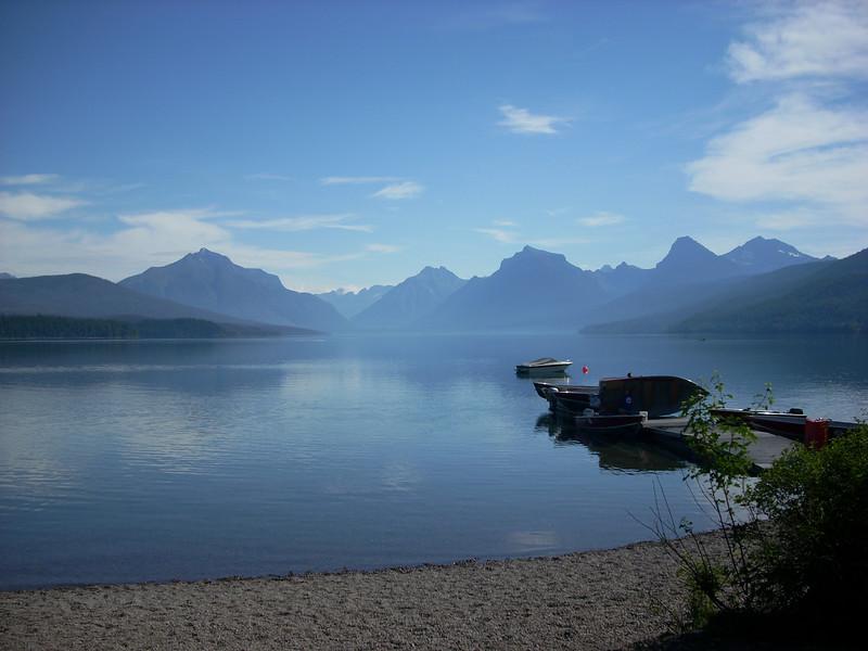 Lake McDonald at Glacier 9am