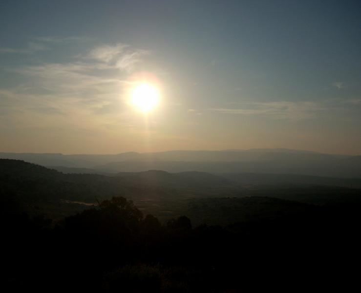 Sunrise along a ridge on HWY 191 South of Rocksprings WY
