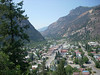 Looking at Ouray from above on US 550